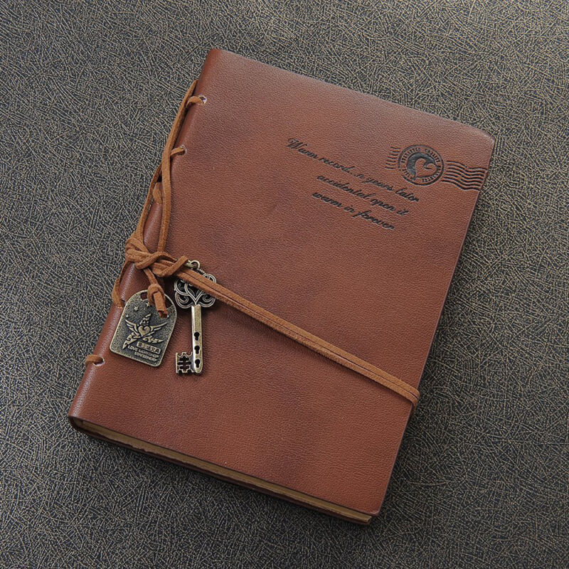 Vintage Classic Retro Leather Diary Journal Travel Notebook Notepad Paper Gift