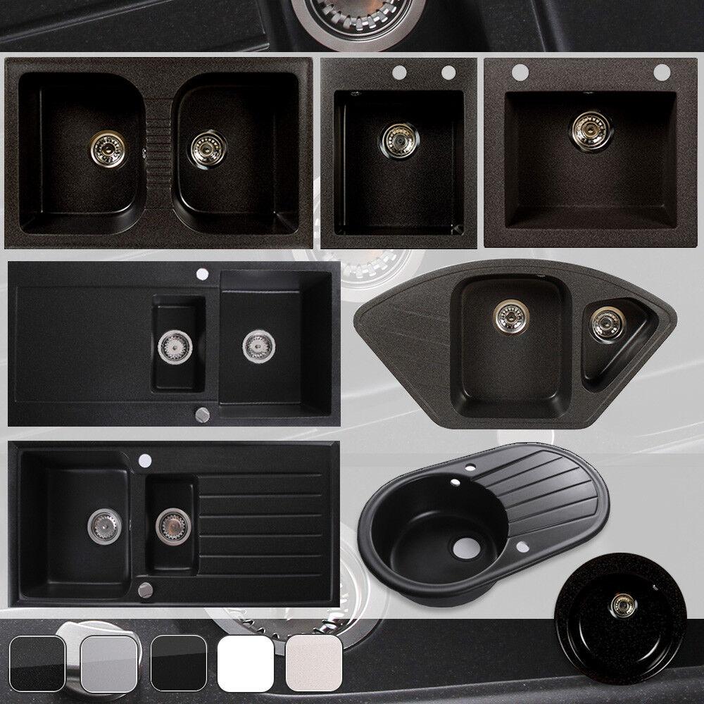 Küchenspüle Granitspüle Spülbecken Einbecken Spülbecken | 45-80er | 5x Farben