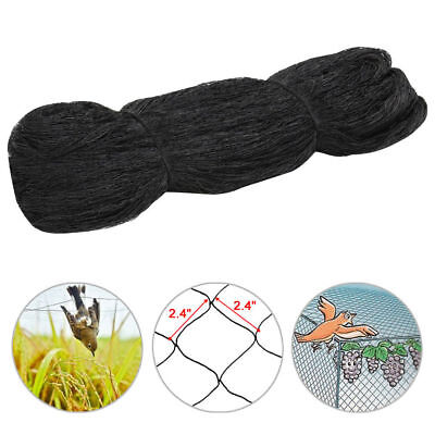 Bird Netting 50 X 50 Catching Net Bird Chicken Poultry Avaiary Game Pens Black