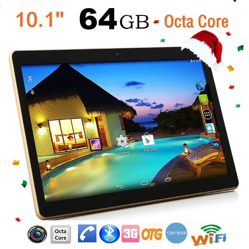 10.1'' Android 6.0 Octa Core Tablet PC 4G+64G Dual SIM Camera WiFi Phablet BY