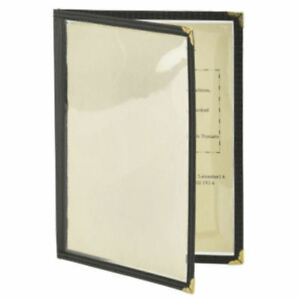 BarBits American Style A4 Menu Cover - 2 Page 4 Sides Facing Heavy Duty Holder