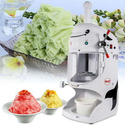 110v Snow Cone Maker Machine Ice Shaver Crusher Commercial Ice Shaving Machine