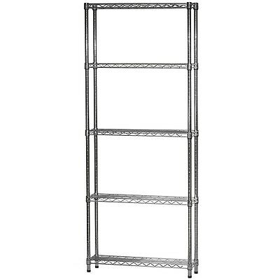 8d X 24w Chrome Wire Shelving With Five Shelves