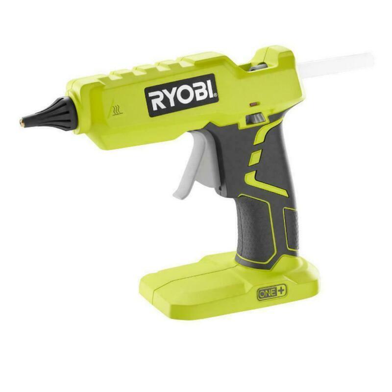 RYOBI Full Size Glue Gun 18-Volt Cordless Battery Glue Sticks LED On Off Light