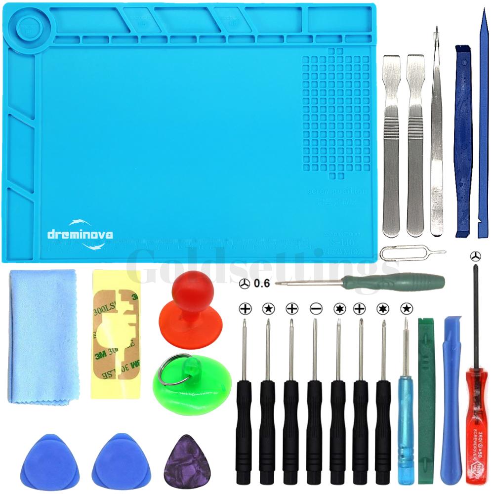 Opening Phone Repair Tools Kit Screwdriver Set With Mat For