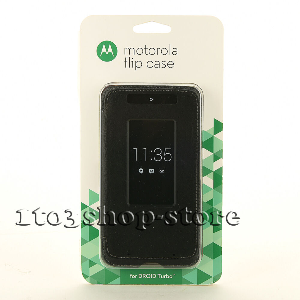 Motorola Flip Leather Smart Folio Case for Moto DROID Turbo Ballistic Nylon/Gray