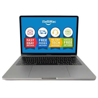 """Apple 13"""" MacBook Pro Touch Bar 2019 2.8GHz 256GB SSD 16GB A1989 MV992LL/A-BTO"""