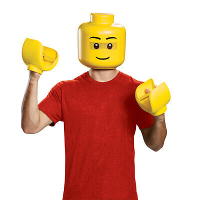 Adult LEGO Guy Mask & Hands Costume - Lego Hands Costume
