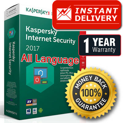 Kaspersky Internet Security 2018 / 2019 (1PC) (1Year) licence key (best price), used for sale  Shipping to Nigeria