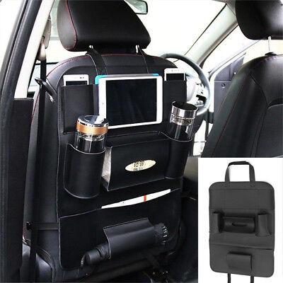 Quality Car Seat Back Leather Bag Organizer Multi-Pocket Black For (Millenia Stores)