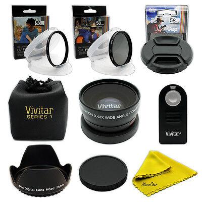 Weitwinkel Makro Objektiv Set für Canon Rebel SLR 700D 650D 600D 550D 500D 450D ()