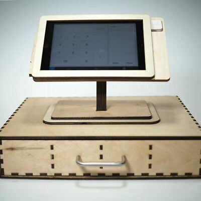 Square Pos Stand And Cash Box For Ipad Mini 1 2 3 And 4 - Personalized Gift.
