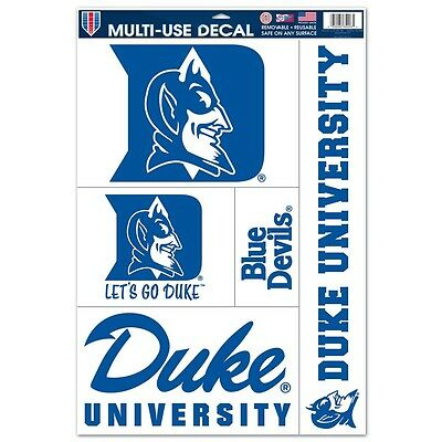 "DUKE BLUE DEVILS 11""X17"" ULTRA DECAL SHEET BRAND NEW FREE SHIPPING"
