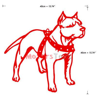 Red JDM Pitbull Dog HF The Side Door Vinyl Car Auto Decorate Sticker Decal x2
