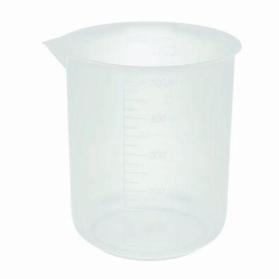 500ml Plastic Beakers Molded Graduations Case 36