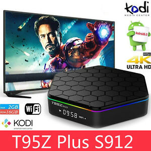T95Z Plus S912 2GB+16GB Octa Core Android 6.0 TV Box KODI 17 2.4/5Ghz Dual WIFI