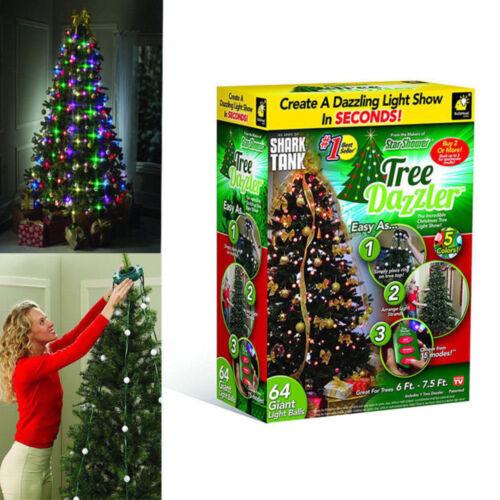 Details About Hanging Star Tree Lights Led Dazzler Christmas Tree Decor Shower Bulbs Uk Plug