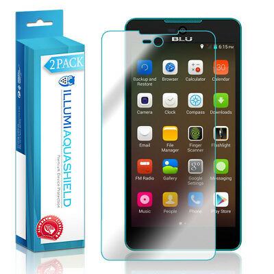 2x iLLumi AquaShield Crystal HD Clear Screen Protector for BLU Studio C 5+5 Screen Protector Crystal Blue