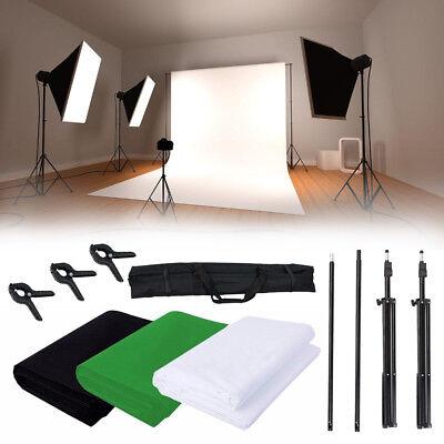 Profi Hintergrundsystem 3x 6M Hintergrund Stoff Stativset Fotostudio Studioset