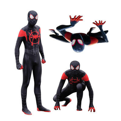 Spiderman Superhero Costume Ultimate Miles Morales Zentai Halloween Cosplay Suit