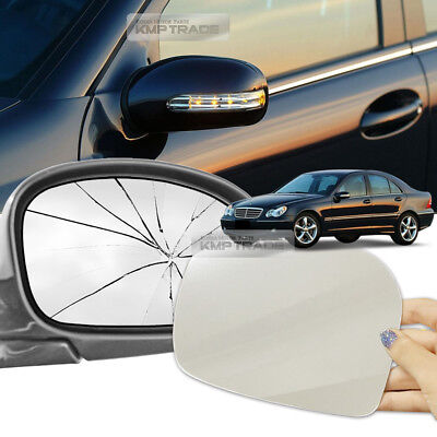 Car Side Mirror Replacement LH RH 2P for Mercedes-Benz 2001-2009 C-Class