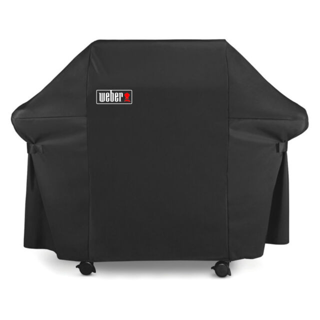 weber grill cover with black storage bag for genesis 300 series gas grills