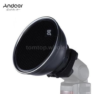 "5.9"" Flash Speedlite Beauty Dish Softbox Diffuser Light Reflector Honeycomb Grip"