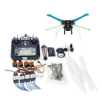 DIY GPS Drone Multi-Rotor Frame Kit S500 APM2.8 2.4G FS-i6 Transmitter F08191-G