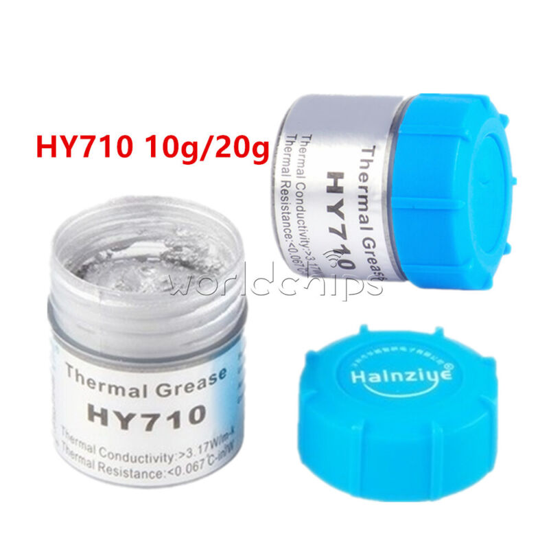 10g/20g HY710 Silver Thermal Grease Paste Compound Chipset Cooling For GPU CPU