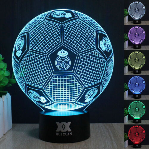 3d Table Football 7 Night About Color Details Real Madrid Switch Lamp Desk Light Touch Led 0Ov8wNnmy