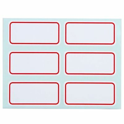 White Writable Price Stickers Self Adhesive Name Number Tags Label Blank