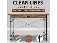 Writing Desk with Drawer 110x55x75 cm Oak Colour-246047