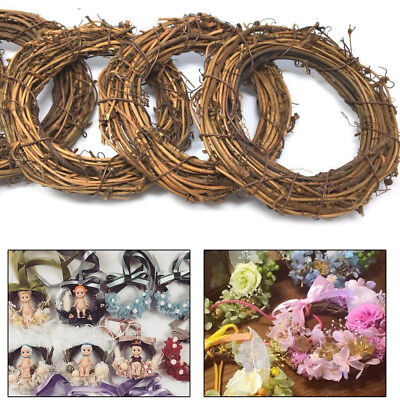 Vine Wicker Garland Hanging Round Heart Wreath Rattan DIY Xmas Wedding - Diy Christmas Garland