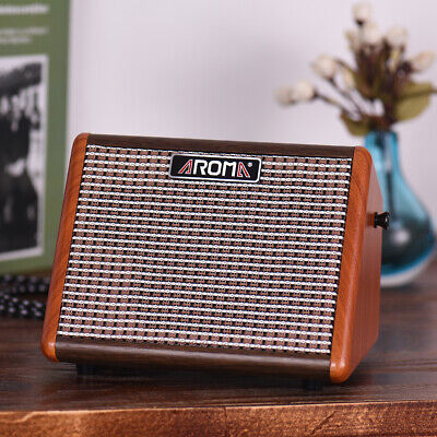 15W Portable Acoustic Guitar Amplifier Amp BT Speaker with Mic Interface B9E1