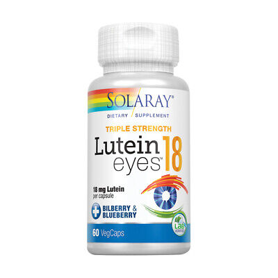 Solaray Lutein Eyes Supplement, 18 mg, 60 Count