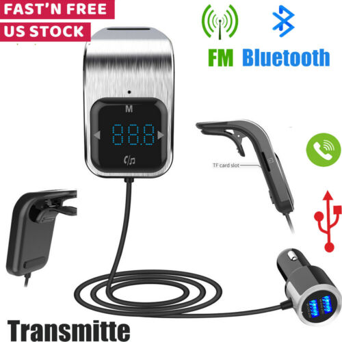 Bluetooth FM Transmitter Radio MP3 Player With 2 USB Fast Ca