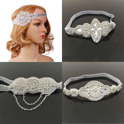 Vintage Silver Diamante Rhinestone Headband 1920S Great Gatsby Flapper Headpiece