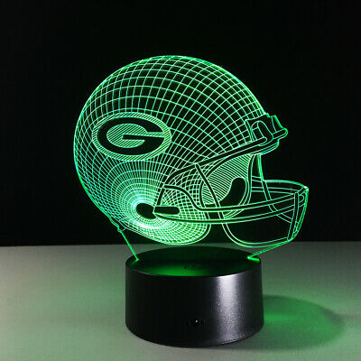 Green Bay Packers 3D LED NFL Lamp Aaron Rodgers Home Decor Gift