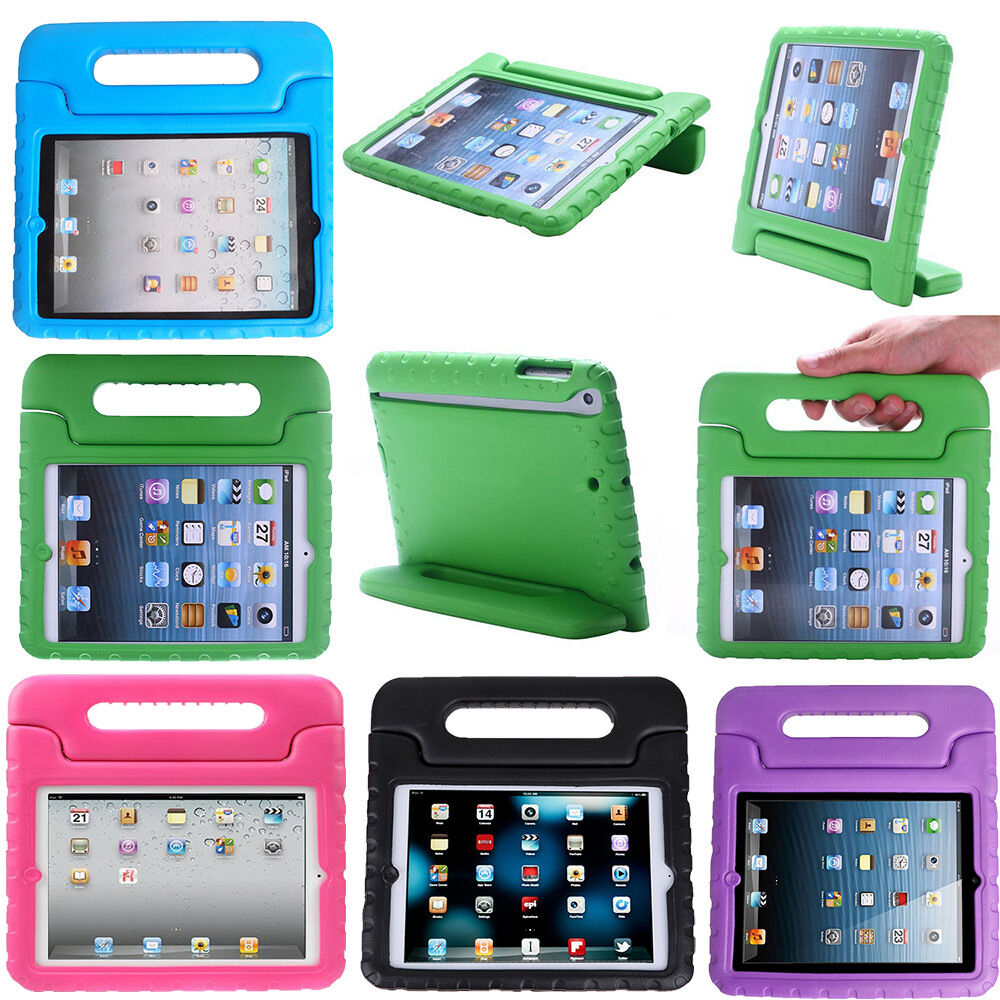 Ipad Mini Case - Kids Shock Proof Foam Case Handle Cover Stand for iPad 2 3 4 5 Mini Retina & Air