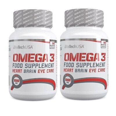 Omega 3 Fischöl Kapseln 180 x 500mg 40% EPA 30% DHA + Bonus - Dha 30 Kapseln