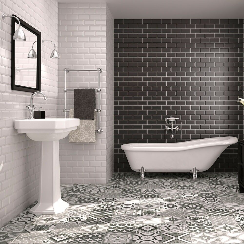 high quality metro wall tiles bevelled and gloss finish