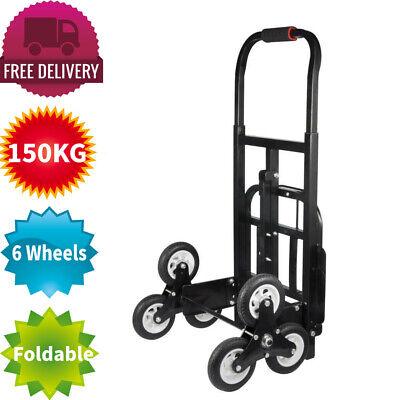 Up Cart All-Terrain Stair Climbing Trolley Easy Folding Sack Truck Shopping Cart