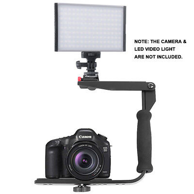 Quick-Flip Flash Bracket Mount Light Shoe Holder for DSLR Camera &Speedlight