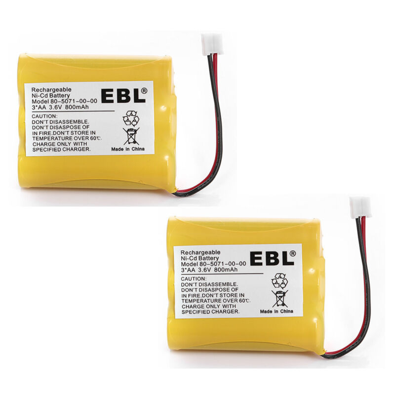 2x 3.6V 800mAh Cordless Home Phone Battery for Vtech 80-5071-00-00 AT&T/Lucent