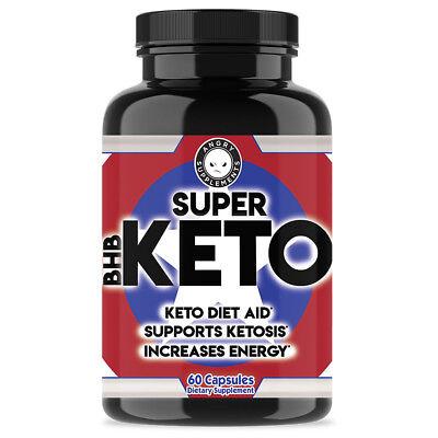 Super Keto BHB , Ketogenic Diet Aid, Ketosis Weight Loss - 60 Pills