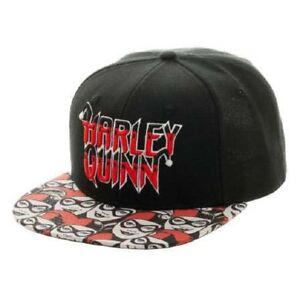 Batman Harley Quinn Joker Halftone DC Comics Black Snapback Hat Cap ac984a40d5a6
