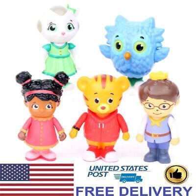 5 PCS Daniel Tiger's Neighborhood Friends Action Figures Cake Topper Kids Toys