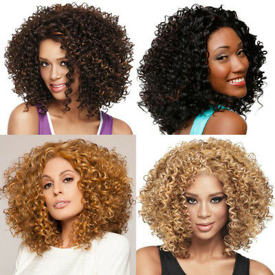 Afro Short Curly Wig for Women Natural Synthetic Heat Resistant Full Wigs - Afro Wig