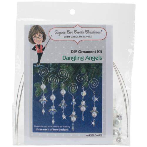 Solid Oak Nostalgic Christmas Beaded Crystal Ornament Kit Dangling Angels