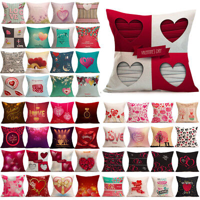 Valentine's Day Gift Throw Pillow Cases Cafe Sofa Cushion Cover Bed Home Decor](Valentine's Day Decorations)